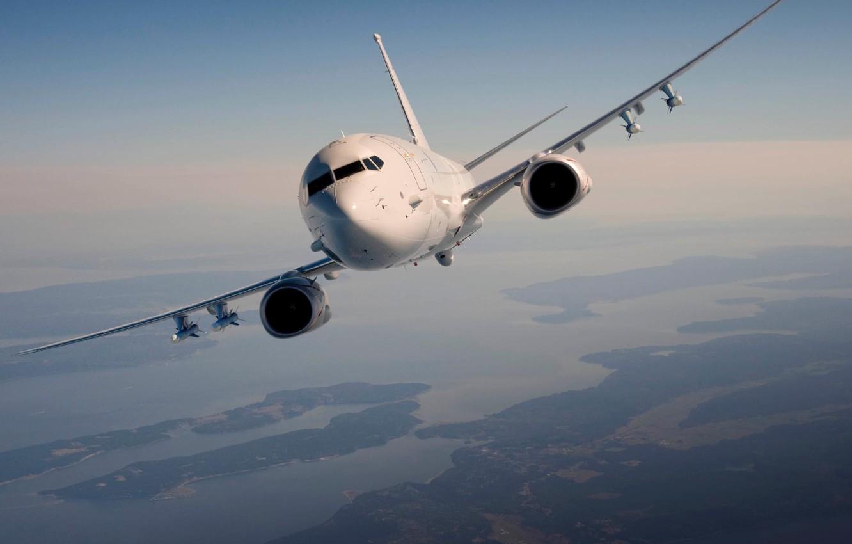Photo wallpaper flight, the plane, Boeing, anti-submarine, US Navy, Poseidon, P-8