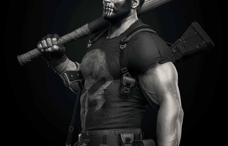 Photo wallpaper weapons, Punisher, Marvel, bit, Keos Masons