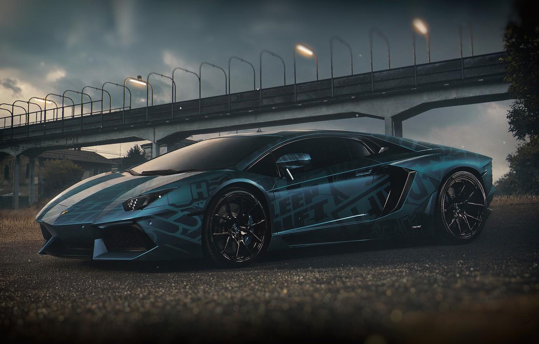 Photo wallpaper Auto, Lamborghini, Machine, Car, Render, Design, Supercar, Aventador, Lamborghini Aventador, Supercar, Sports car, Sportcar, Transport …