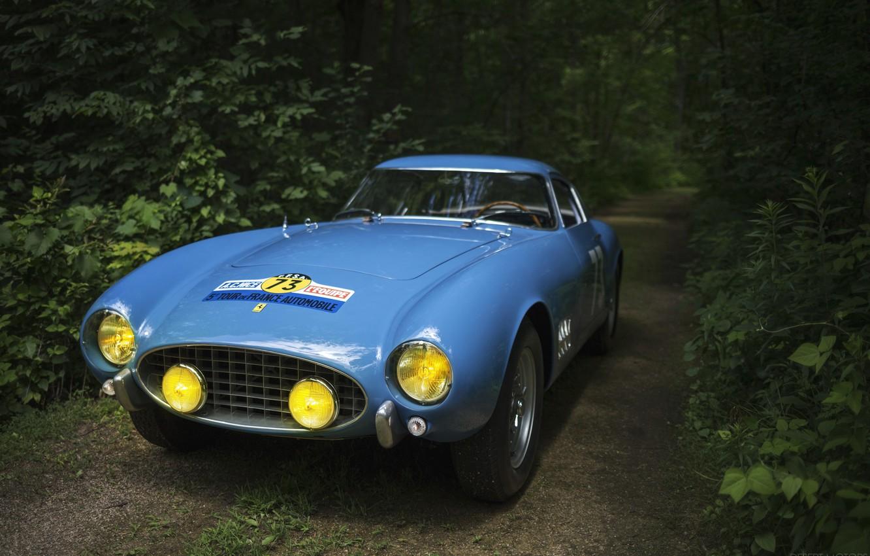 Photo wallpaper Blue, Sportcar, Rally Car, Ferrari 250 GT Berlinetta