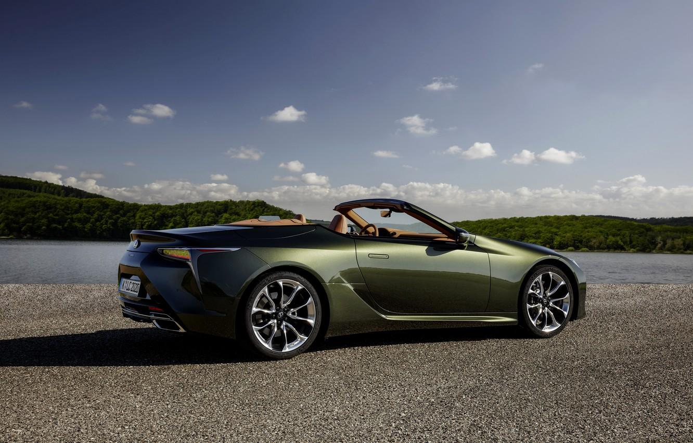 Photo wallpaper Lexus, convertible, side view, 2021, LC 500 Convertible