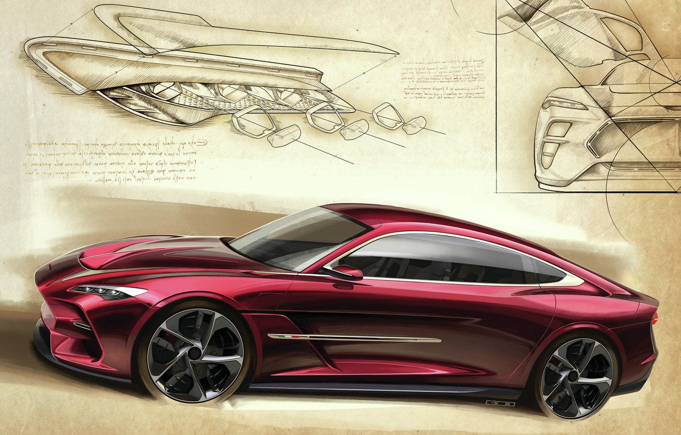 Photo wallpaper Sketch, Front, ItalDesign, DaVinci
