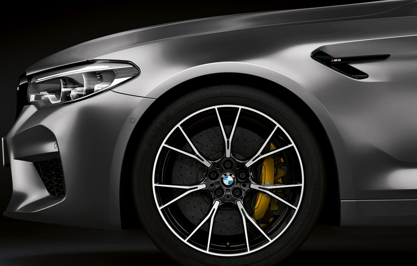 Photo wallpaper wheel, BMW, 2018, the front part, M5, V8, F90, M5 Competition
