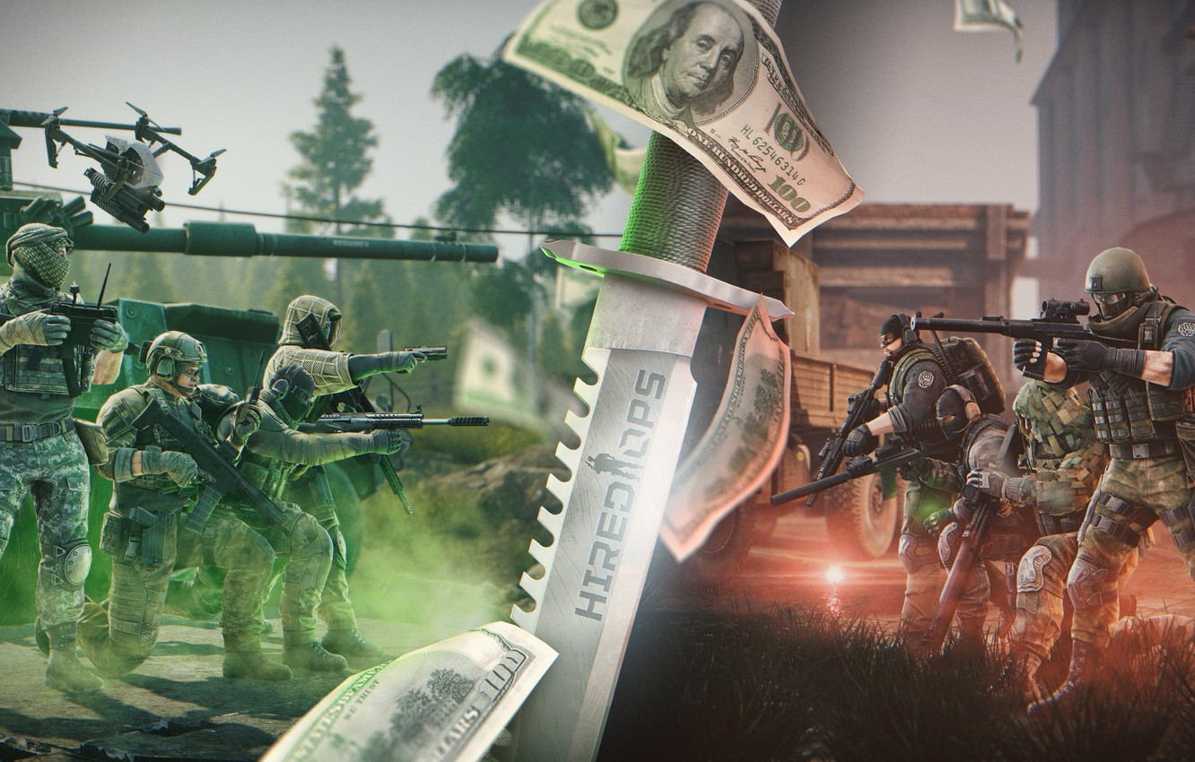 Photo wallpaper Knife, Soldiers, Weapons, Mercenaries, BEAR, USEC, hops, Hired Ops, PMC, Absolutely soft