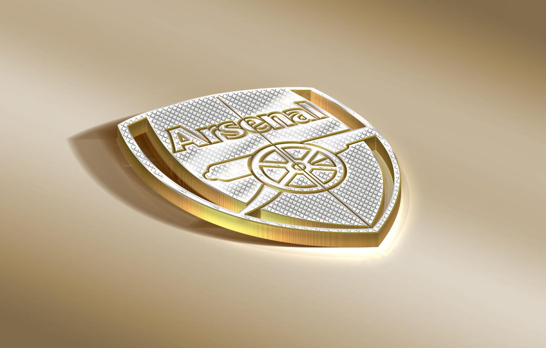 Photo wallpaper Logo, Golden, Football, Arsenal, Sport, Soccer, Emblem, Arsenal FC, English Club
