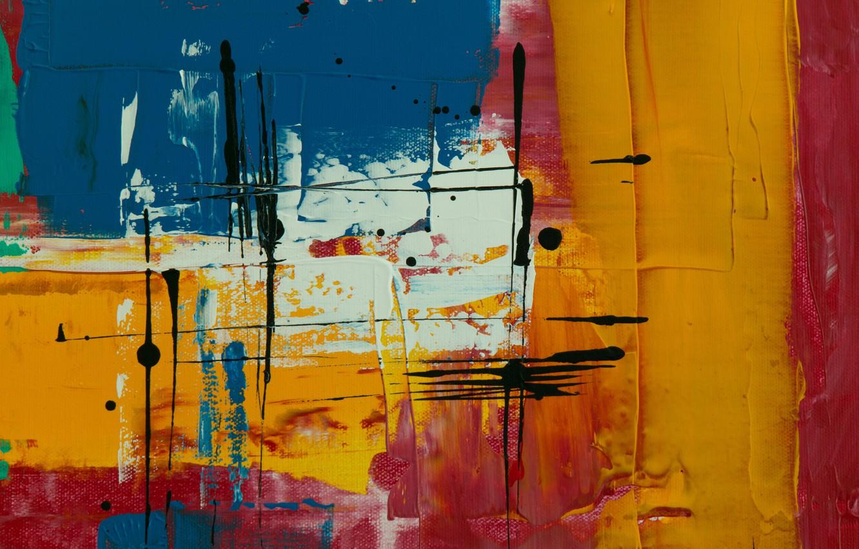 Photo wallpaper paint, blots, canvas, strokes