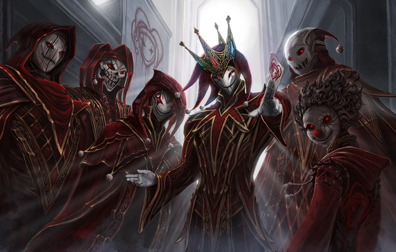 Photo wallpaper crown, undead, king