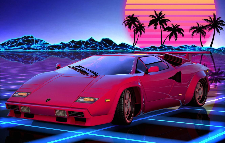 Wallpaper Auto, Music, Lamborghini, Retro, Machine, Style