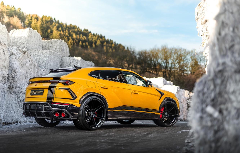 Photo wallpaper Lamborghini, rear view, crossover, Urus, 800, Manhart, 2019, Manhart 800