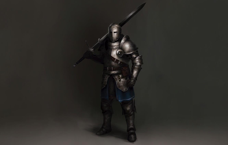 Photo wallpaper Concept Art, Knight, Sword, Armor, Sketch, Alejandro Castillejo, European Warrior