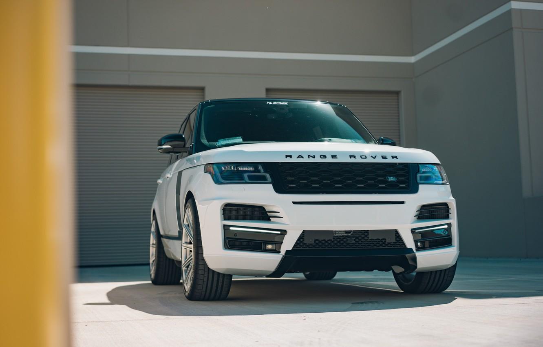 Photo wallpaper Land Rover, Range Rover, White, Vossen, Vogue
