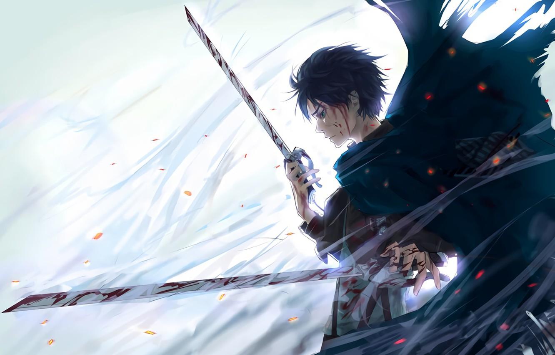 Wallpaper Anime Art Weapons Shingeki No Kyojin Eren