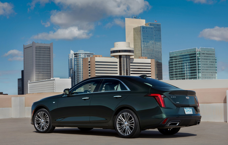Photo wallpaper Cadillac, sedan, side, four-door, 2020, CT4