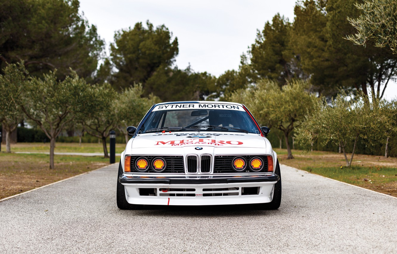 Photo wallpaper Trees, BMW, Bumper, Lights, Classic car, Icon, Sports car, 1983, Grille, BMW 635 CSi, BMW …