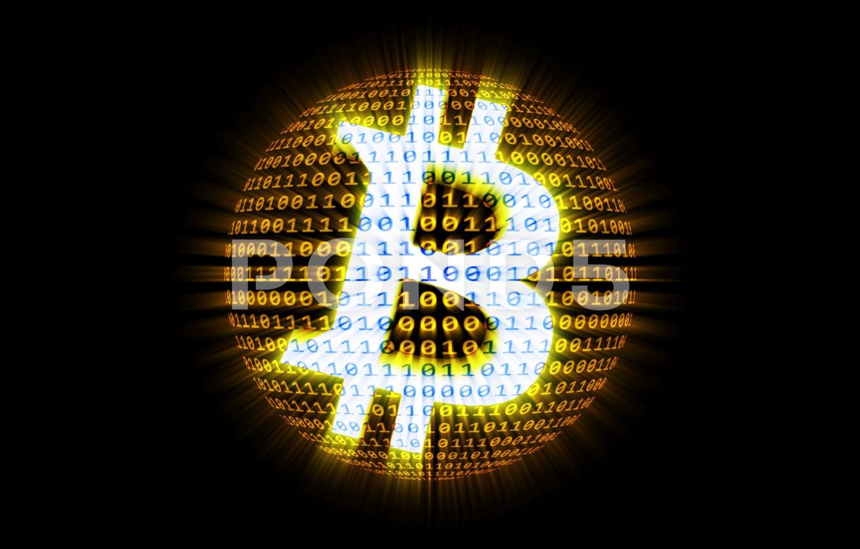 Photo wallpaper black, figures, black, fon, bitcoin, bitcoin, btc