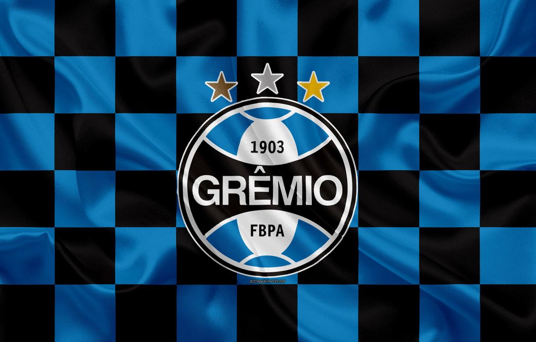 Photo wallpaper sport, logo, white, black, blue, tricolor, symbol, flag, soccer, Brazil, shield, champion, banner, coat of …