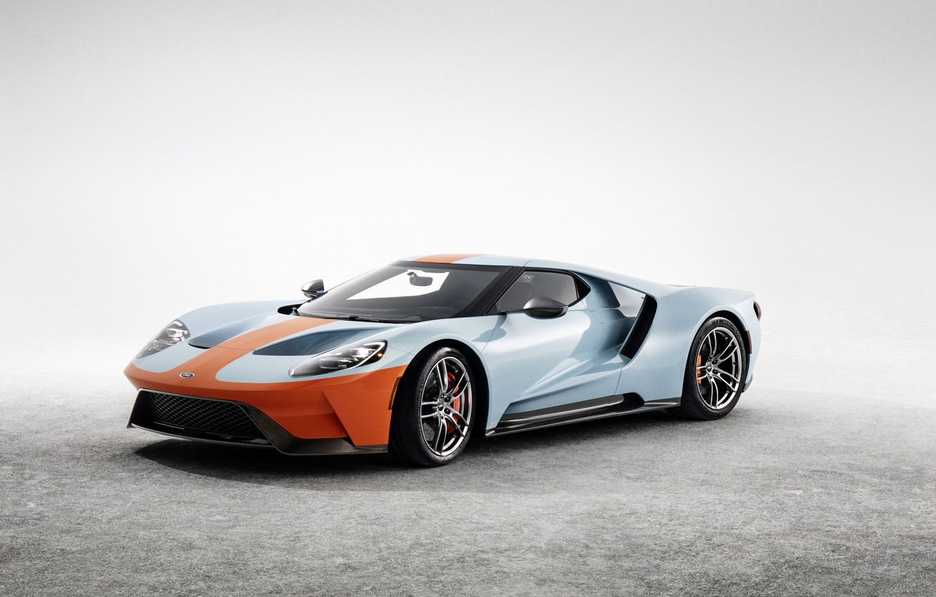 Photo Wallpaper Grey Background Ford Ford Gt  Heritage Edition