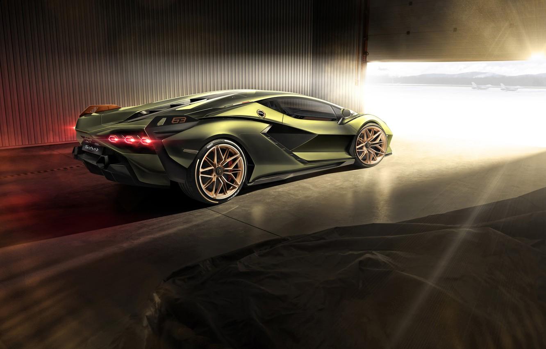 Photo wallpaper light, Lamborghini, supercar, hybrid, Later