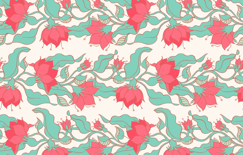 Photo wallpaper flowers, background, vector, texture, pink