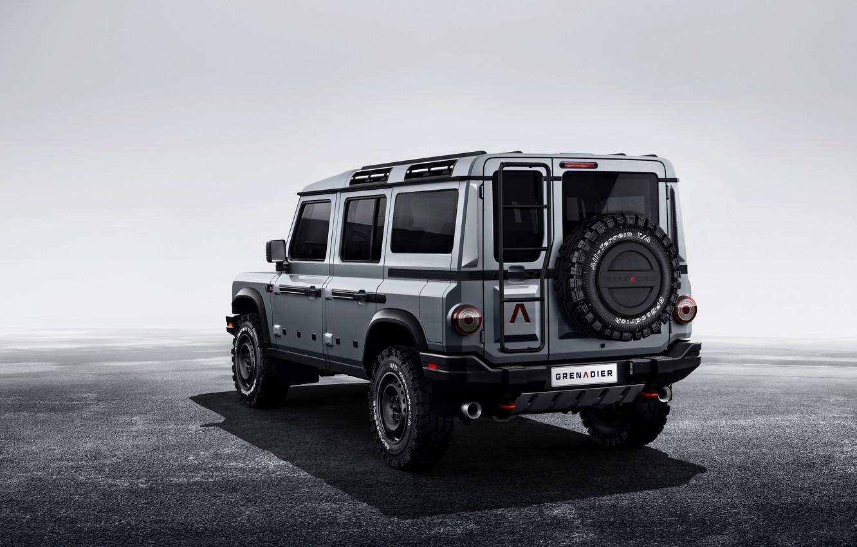 Photo wallpaper grey, background, SUV, back, prototype, Grenadier, Ineos
