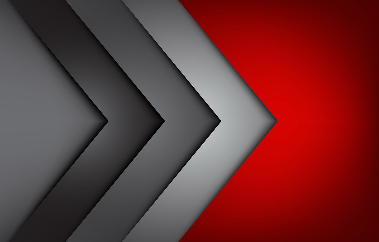 Photo wallpaper red, grey, corners, red, fon, gray, corners