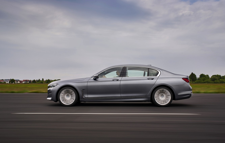 Photo wallpaper BMW, sedan, side, four-door, G12, G11, 2020, 7, 7-series, 2019, full-size