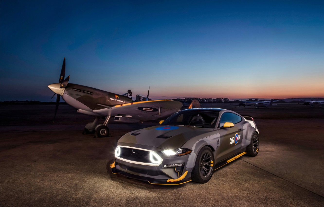 Photo wallpaper Ford, the evening, RTR, 2018, Mustang GT, Eagle Squadron