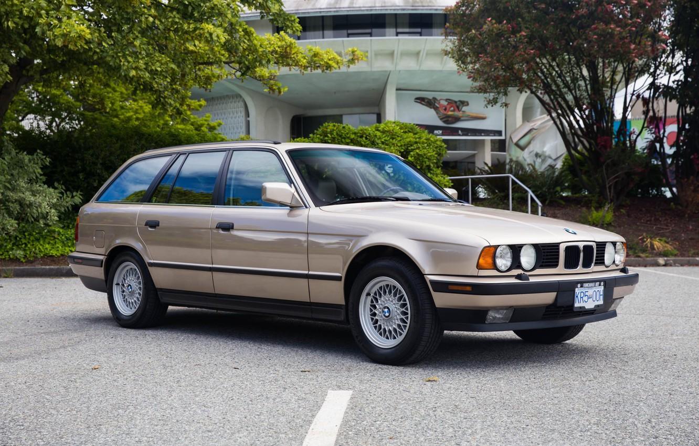 Photo wallpaper BMW, E34, Touring, 525