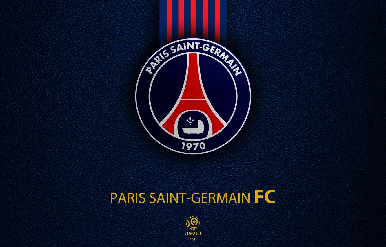 Photo wallpaper Football, Soccer, PSG, Emblem, Paris Saint-Germain, French Club