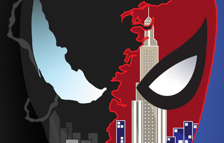 Photo wallpaper Art, New York, Comics, Venom, Spider Man