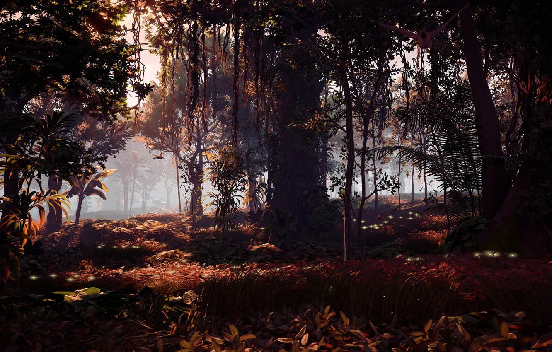 Photo wallpaper landscape, jungle, exclusive, Playstation 4, Guerrilla Games, Horizon Zero Dawn