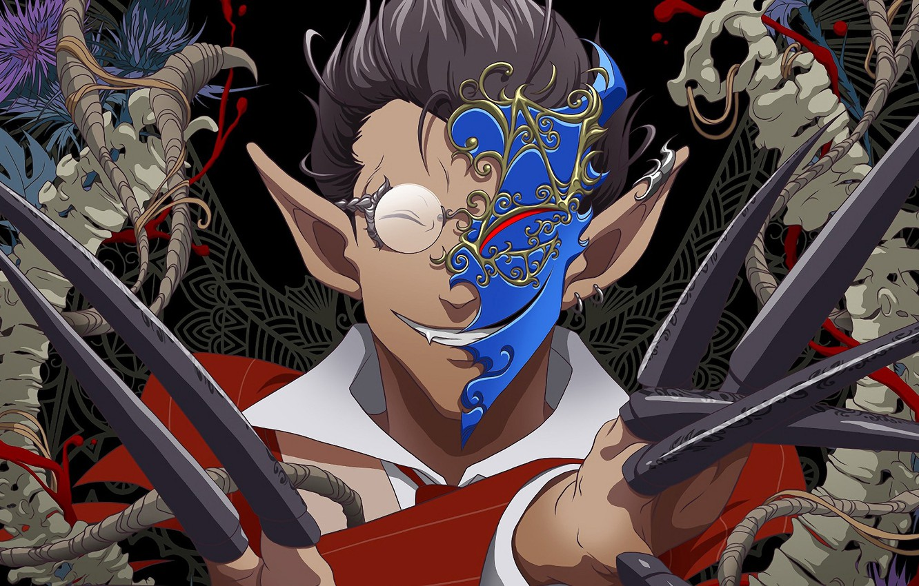 Photo wallpaper smile, elf, Overlord, guy, Lord