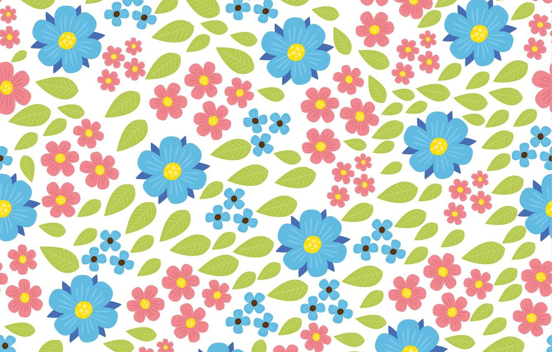 Wallpaper Flowers Vector Beautiful Flowers Pattern