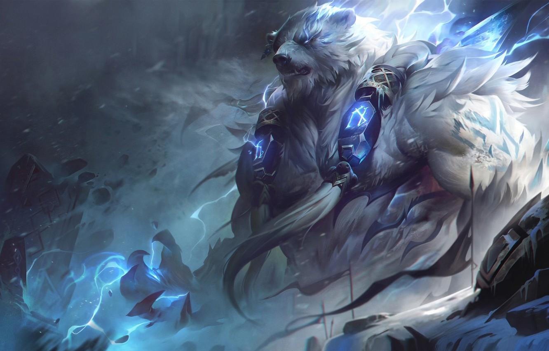 Photo wallpaper being, beast, League Of Legends, League Of Legends, Volibear