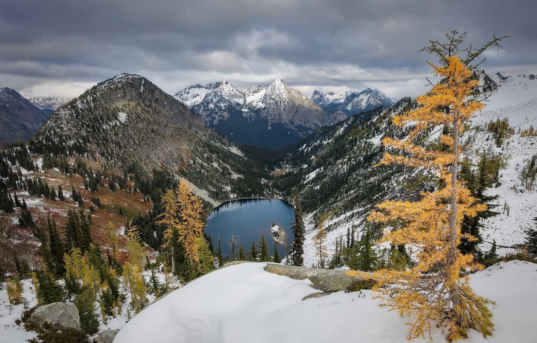Photo wallpaper autumn, mountains, United States, Washington, Gilbert