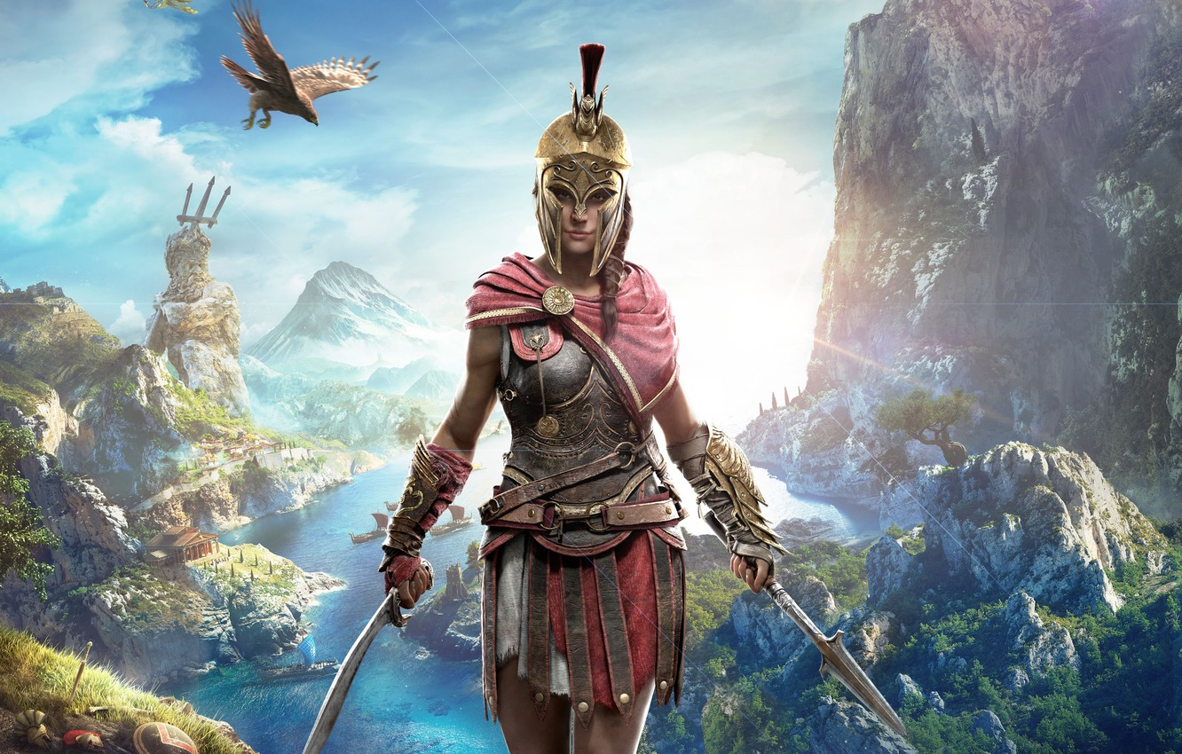 Photo wallpaper Girl, Game, Assassin's Creed, Odyssey