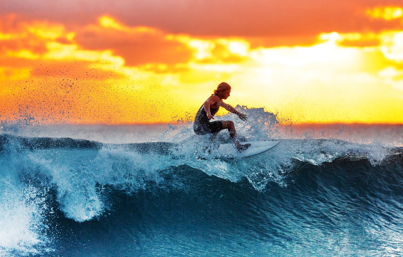 Wallpaper Sunset Surf Men Images For Desktop Section