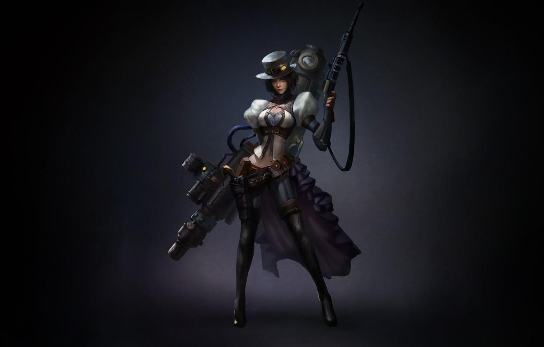 Wallpaper Girl Art Style Background Weapon Minimalism