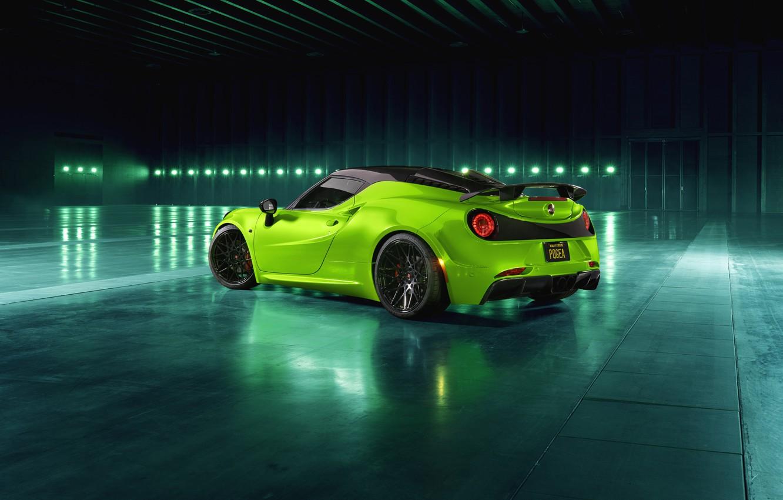 Photo wallpaper rear view, 2018, Green Arrow, Centurion, Alfa Romeo 4C, Pogea Racing