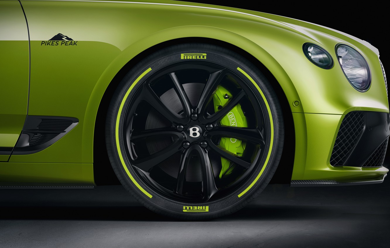 Photo wallpaper Bentley, wheel, Continental GT, Limited Edition, Pikes Peak, 2020
