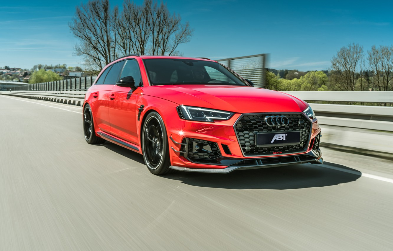 Photo wallpaper Audi, speed, 2018, ABBOT, RS4, RS4-R