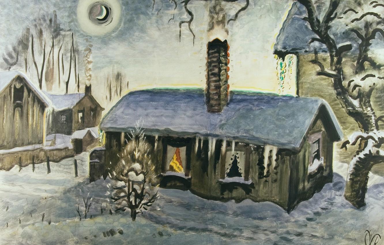 Photo wallpaper Charles Ephraim Burchfield, Peace at Christmas, 1917-47