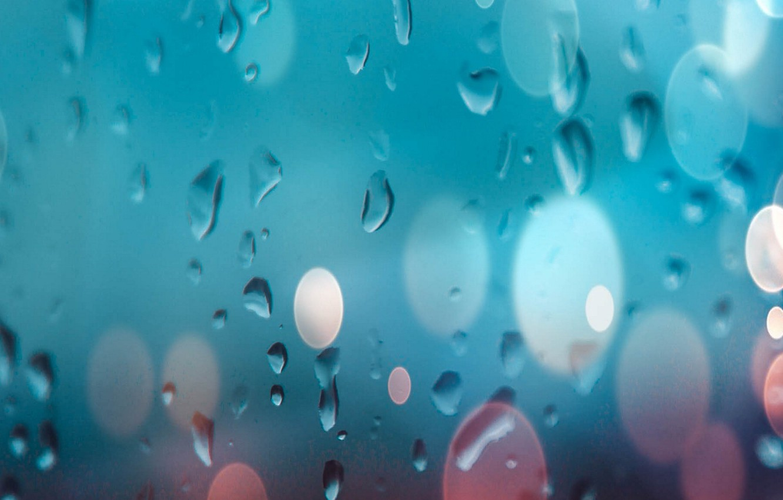 Photo wallpaper glass, water, drops, glass, water, background, bokeh, bokeh, drops