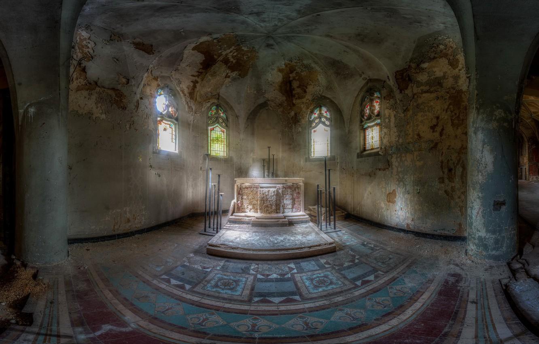 Photo wallpaper interior, hall, the crypt