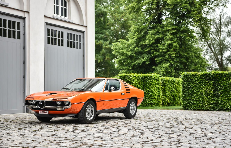 Photo wallpaper Alfa Romeo, Orange, Montreal, 1973