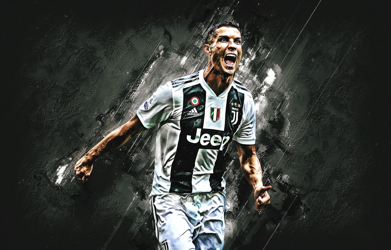 Photo wallpaper Cristiano Ronaldo, CR7, Football, Soccer, Ronaldo, Cristiano, Juventus, Juve, Cris