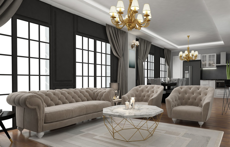 Photo wallpaper design, rendering, room, art, ahmet bozdag, livingroom desing