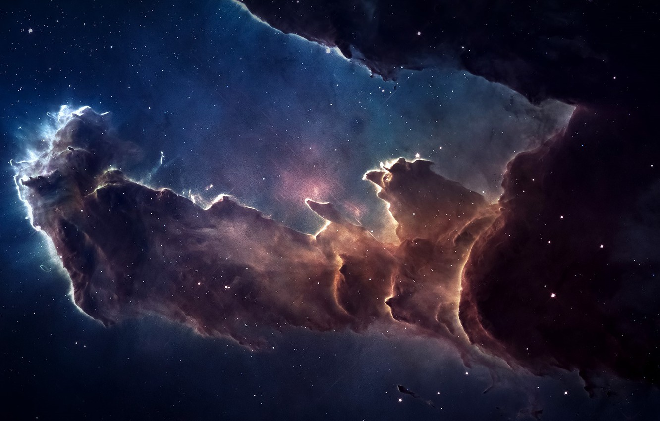 Photo wallpaper space, nebula, stars, galaxy, constellation, Eagle Nebula, Snake