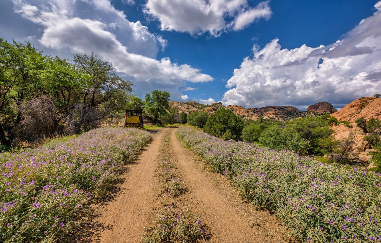Photo wallpaper road, AZ, USA, Prescott Valley