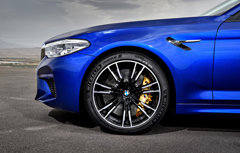 Photo wallpaper wheel, BMW, sedan, the front part, BMW M5, 2017, M5, F90